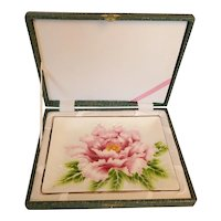 Japanese Wireless Cloisonne Enamel on Copper Tray Chrysanthemum Signed