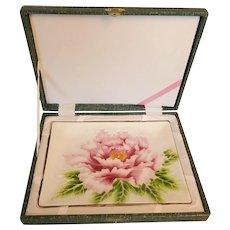 Japanese Wireless Cloisonne Enamel on Copper Tray Chrysanthemum Signed