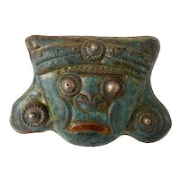 Mexican or South American Hand Made Copper & Silver Mask