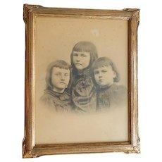 C.1910 Arts & Crafts Carved & Gilded Frame