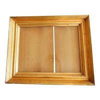 Antique Lemon Gold Gilt Deep Picture Frame C.1850