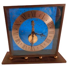 """LeCoultre """"Stars"""" Desk or Mantle Clock 1950's As Is"""