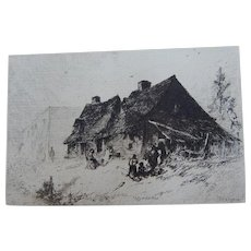 "Etching ""Negro Huts Near Wilmington N.C."" by J.M. Falconer"