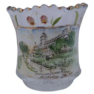 Glass Hotel Souvenir Toothpick Holder Thousand Island House New York Antique