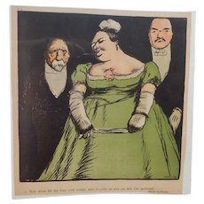 Charles Huard French Color Magazine Satire Comic Illustration C.1905