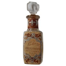 Valois Parfumerie Paris Perfume Bottle Paper Label Stopper