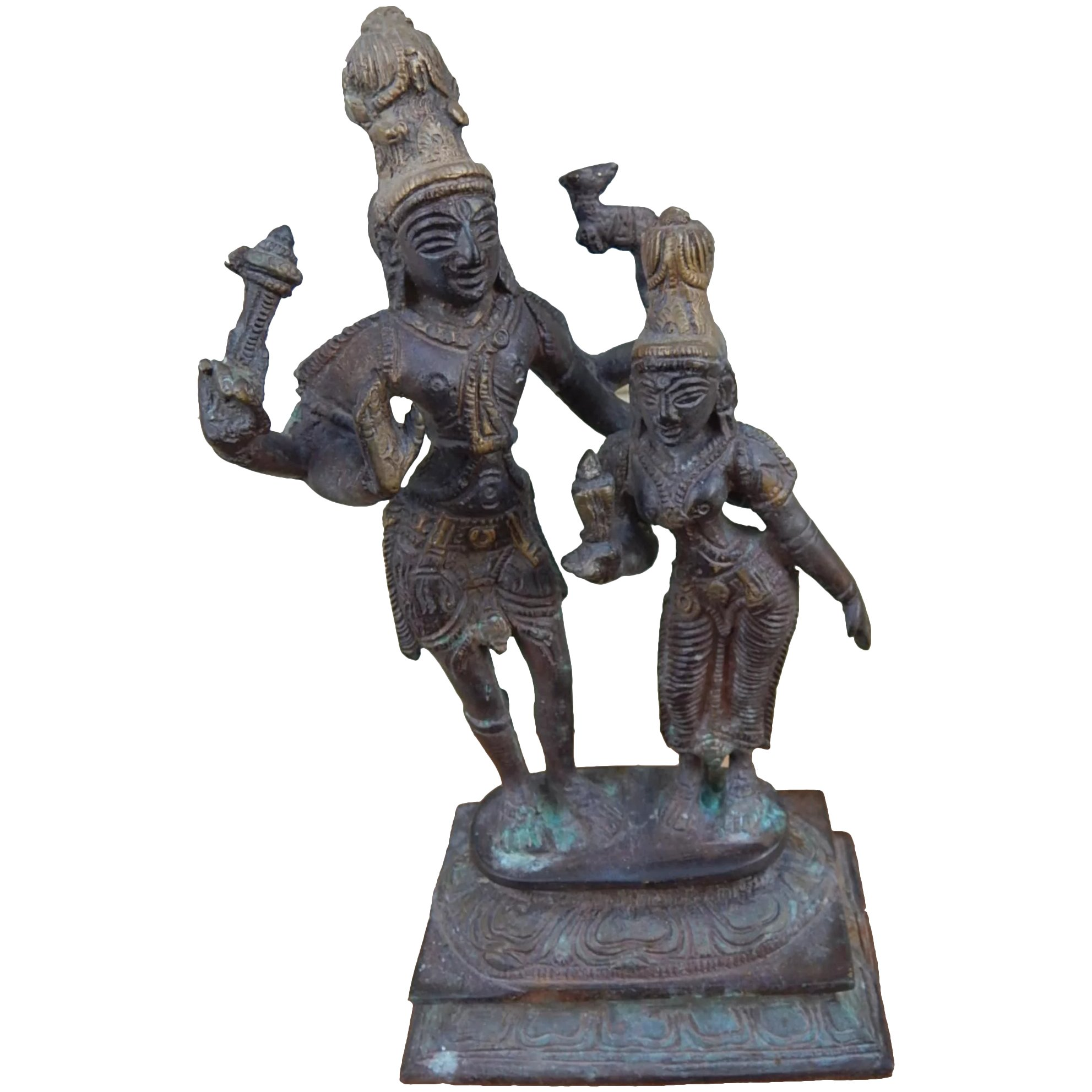Antique Indian Hindu Bronze Or Br