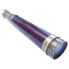 Antique Brass Telescope Spyglass