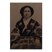 Civil War Era Ambrotype Photograph Beautiful Young Woman