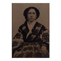 Civil War Era Ambrotype Photograph Beautiful Young Woman