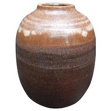 Robert L Morgan NH Studio Pottery Vase Mid Century Modern