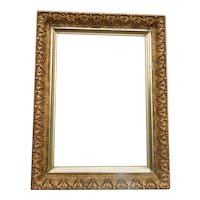 Small Victorian Picture Frame Plaster & Gold Gilt Original