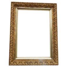 Small Victorian Picture Frame Plaster & Gold Gilt Original
