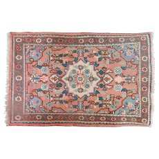 Small Oriental Rug Hand Made Vintage