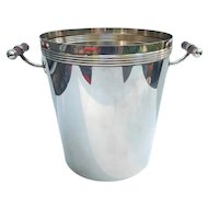 Christofle Champagne Bucket Cooler Silver Plate Laque De Chine France