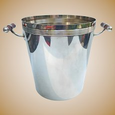 Christofle Champagne Wine Bucket Cooler Silver Plate Laque De Chine France