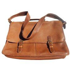 Coach Leather Briefcase Laptop Shoulder Strap Bag Vintage