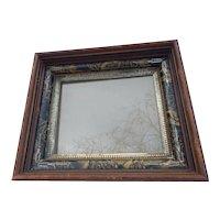 Victorian Deep Walnut Picture Frame Gold Gilt Liner C.1870
