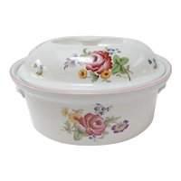 Spode Marlborough Sprays Roses 2.5 qt. Oval Casserole