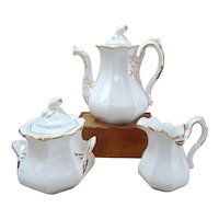 Staffordshire Tea Set Teapot Sugar Creamer Sampson Bridgwood