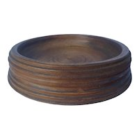 Antique Wooden Treen Treenware Large Magnum Champagne Wine Coaster C.1850