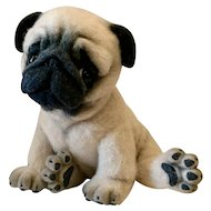 "11"" long OOAK needle felted Pug puppy"