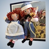 "8"" Raggedy Ann and Andy by R John Wright"