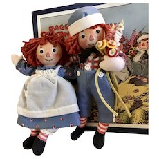 """8"""" Raggedy Ann and Andy by R John Wright"""