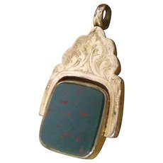Decorative Antique 19th Century 10ct Rose Gold Spinning Agate Seal Fob