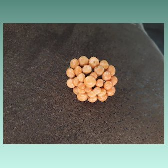 Simple Antique Georgian Natural Coral Brooch