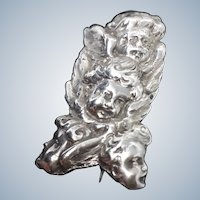 "Super Silver Cherubs ""Reynold's Angels"" Brooch"