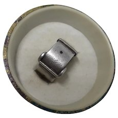Traditional Antique Victorian Hallmarked English Silver Buckle Ring
