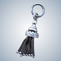 Fine Antique Victorian Sterling Silver Tassel Fob Drop