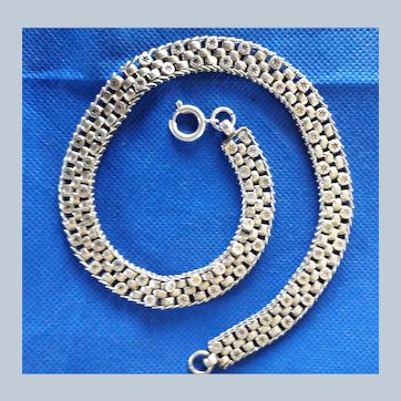 Pristine Antique Victorian Sterling Silver Collar Necklace