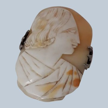 Patent Antique Victorian Brooch Mount and Early C19th Cameo