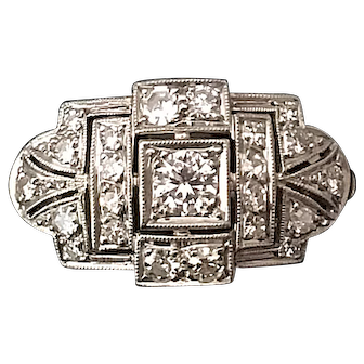 a Retro Ring with Diamonds