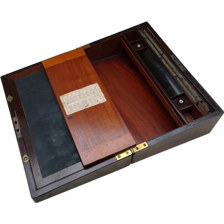 Writing box. Lapdesk. Writing slope.