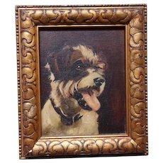 St. Bernard dog. Dog painting. Painting of a dog.