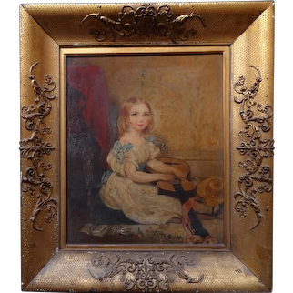Painting of a girl.
