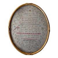 Sampler. Needlework sampler 1794.