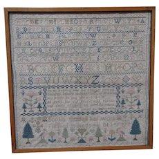 Sampler. Needlework sampler 1793.
