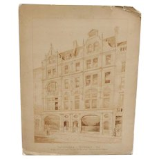 Bluthner Piano...Architects drawing of Bluthner building 1889...