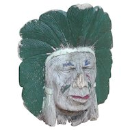 Native American...Native American Carved head/mask...