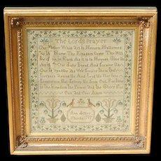 Sampler...Needlework sampler 1797... The Lords Prayer Sampler...