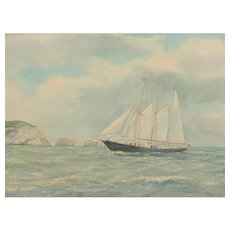 Ship painting...Painting of a sailing ship...