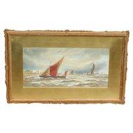 Boats...Painting of boats...Sailing boats...