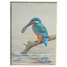 Kingfisher...Painting of a Kingfisher...Kingfisher painting... - Red Tag Sale Item