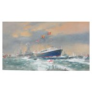 Naval ships painting...Britannia Naval Envoy painting...