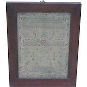 Sampler...Needlework sampler...1836 sampler