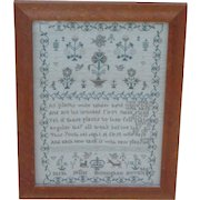 Sampler...Needlework sampler dated 1812...